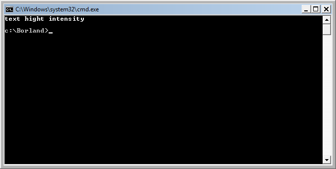 highvideo example output in cmd