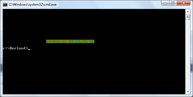 example output of window in cmd
